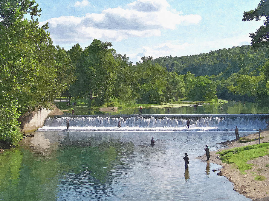 Summer By The Spillway Photograph