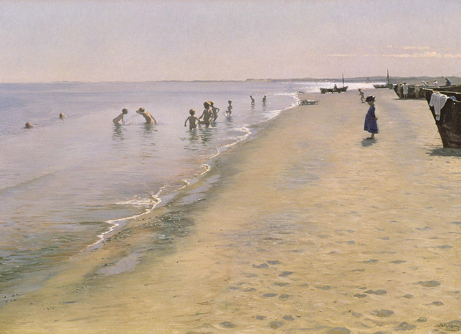 Summer Day At The South Beach Of Skagen Painting  - Summer Day At The South Beach Of Skagen Fine Art Print