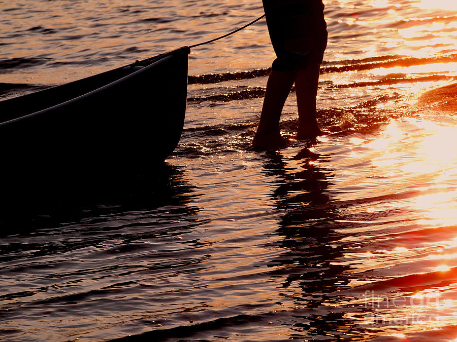 Summer Days - Canoeing At Sunset Photograph  - Summer Days - Canoeing At Sunset Fine Art Print