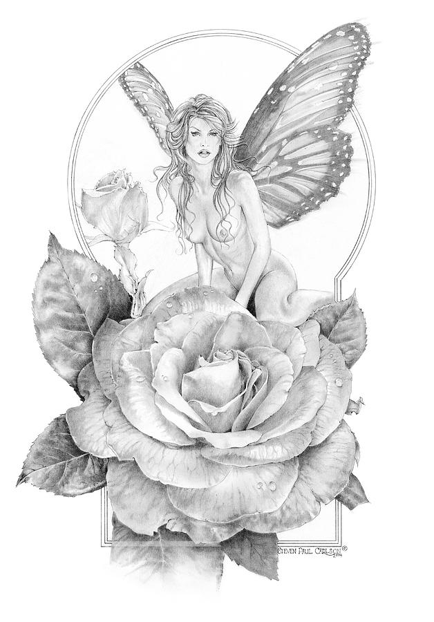 Summer Faerie - The Season Faeries Drawing  - Summer Faerie - The Season Faeries Fine Art Print