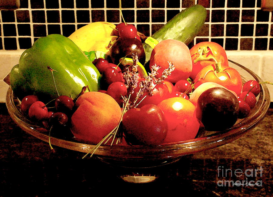 Summer Fruit And Veggies Still Life -- Another Fresh Paintograph Photograph