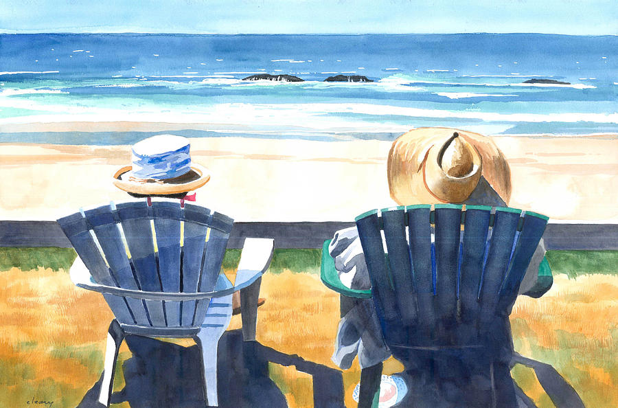 Summer In Lincoln City Painting  - Summer In Lincoln City Fine Art Print