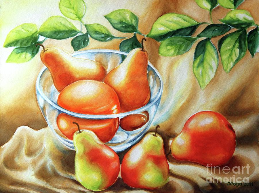 Summer Pears Painting  - Summer Pears Fine Art Print