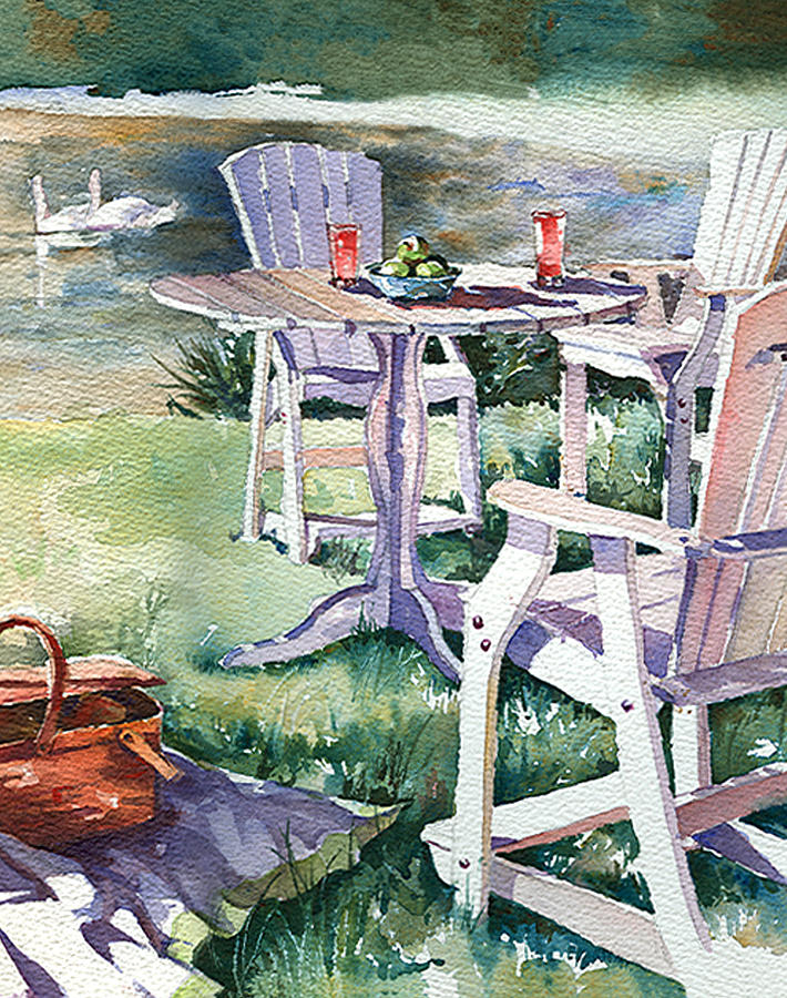 Summer Picnic Painting  - Summer Picnic Fine Art Print