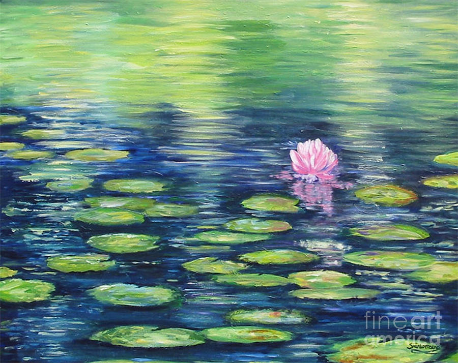 Summer Pond Painting  - Summer Pond Fine Art Print