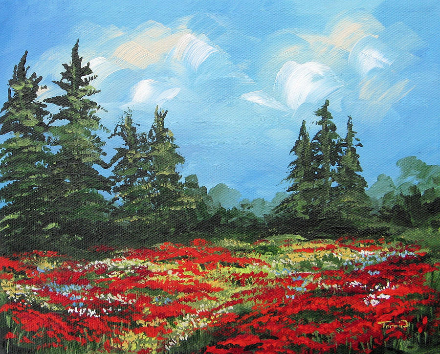 Summer Poppies IIi Painting  - Summer Poppies IIi Fine Art Print