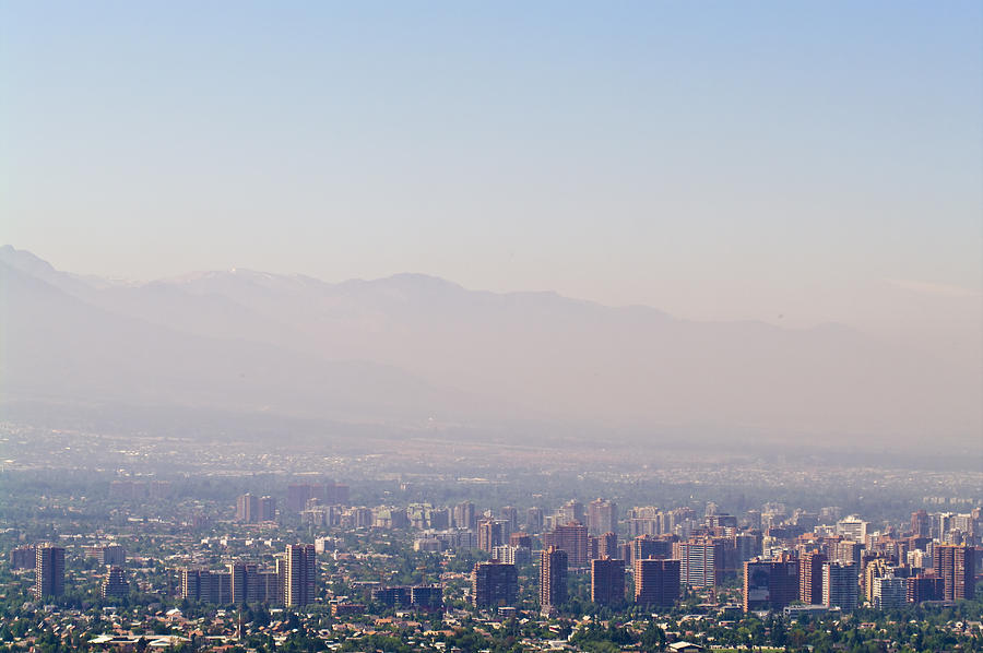 Summer Smog And Pollution In Santiagos Photograph