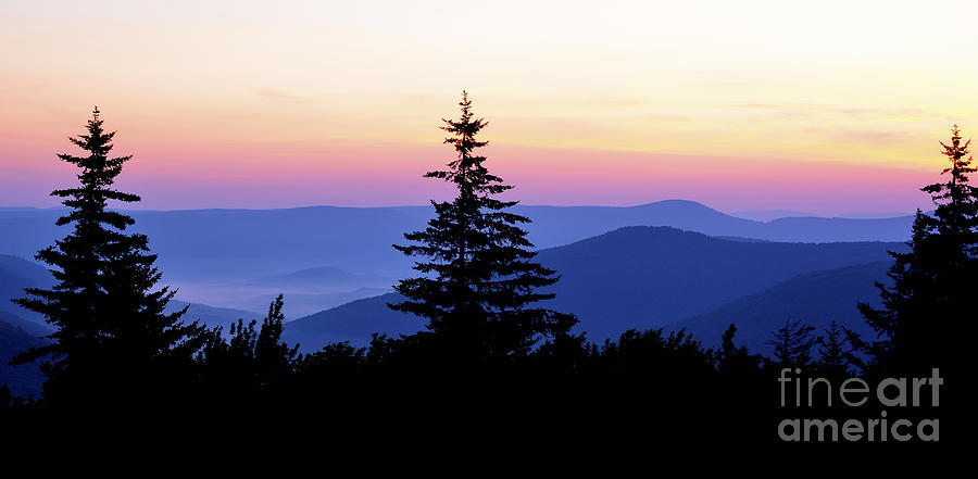 Summer Solstice Sunrise Highland Scenic Highway Photograph