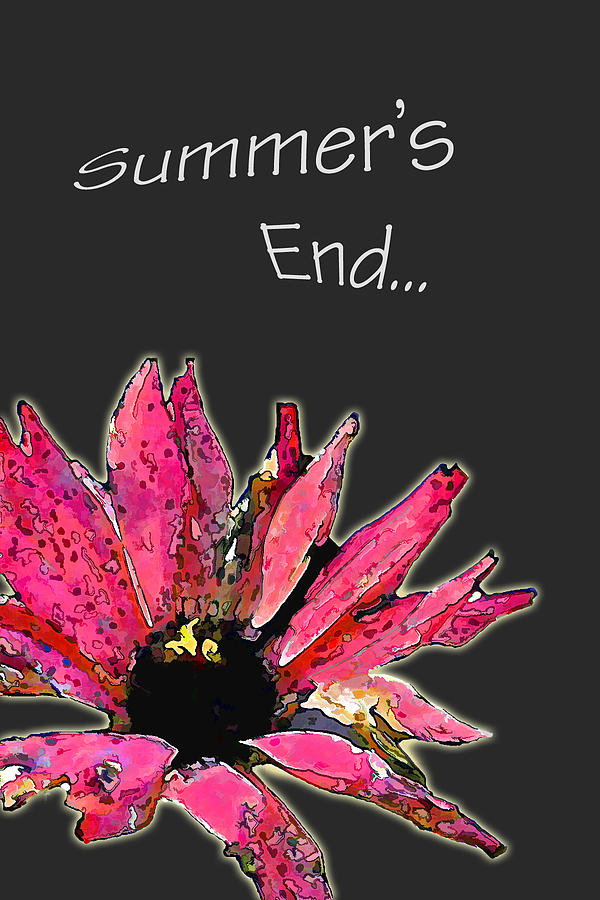 Greeting Cards Photograph - Summers End by Larry Bishop