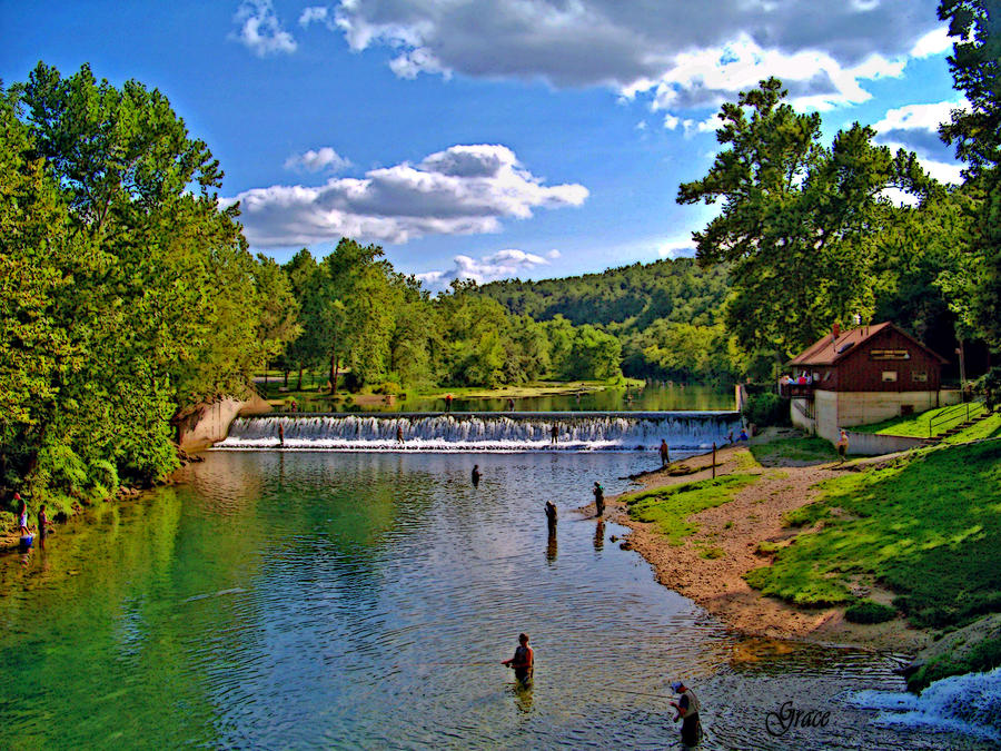 Summertime At Bennett Springs Photograph  - Summertime At Bennett Springs Fine Art Print