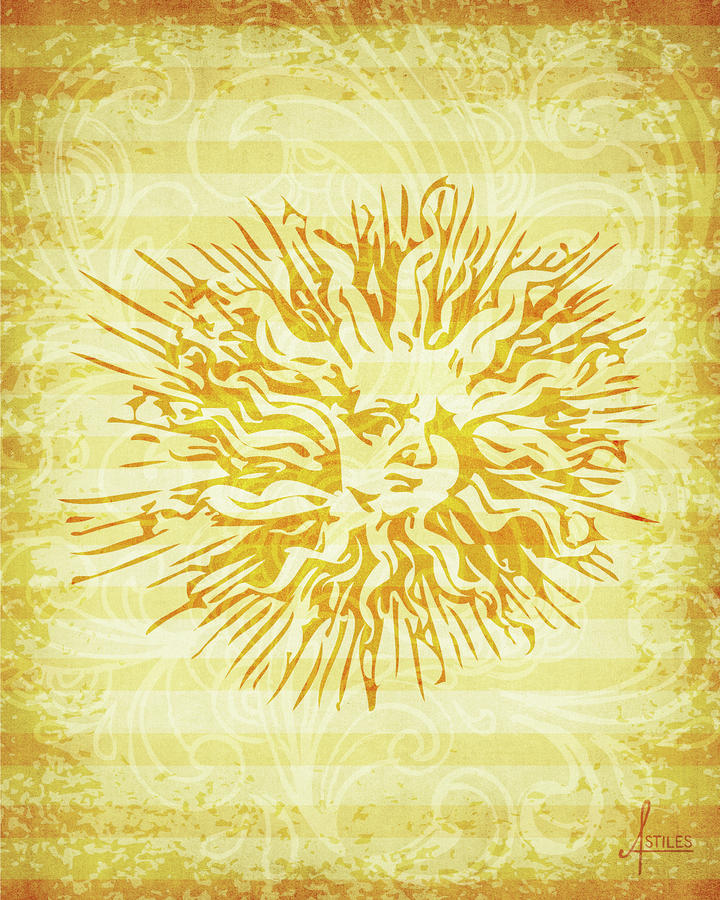 sun Mixed Media  - sun Fine Art Print