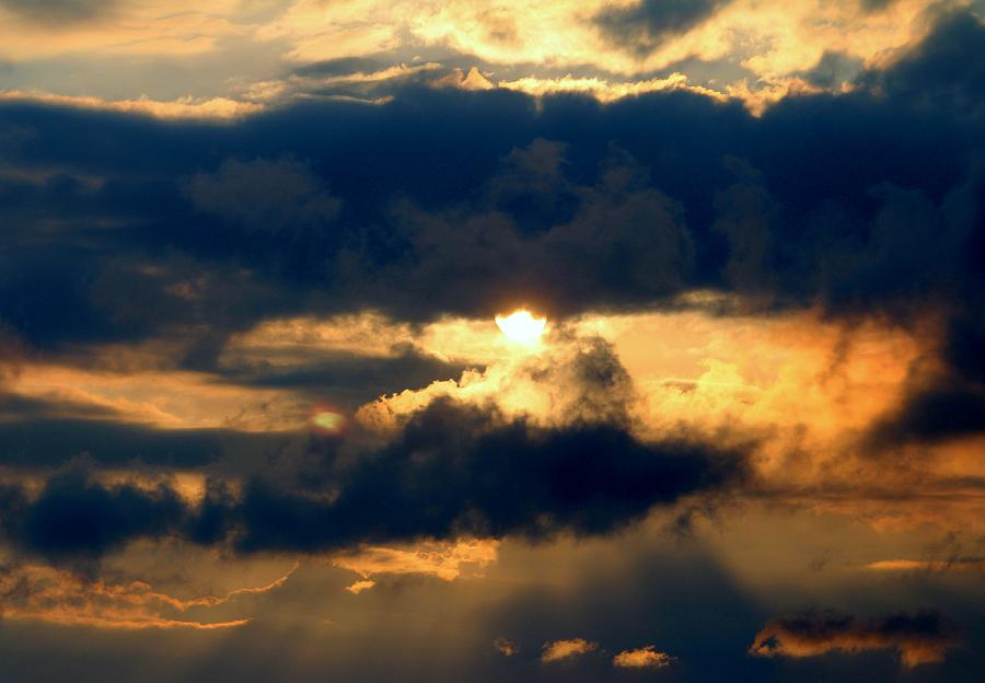 Sun And Clouds Photograph  - Sun And Clouds Fine Art Print