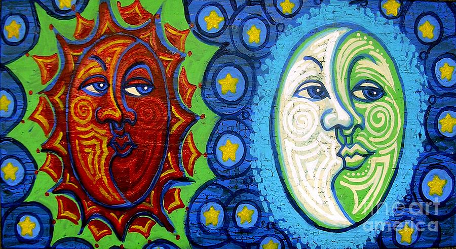 Sun And Moon Painting  - Sun And Moon Fine Art Print