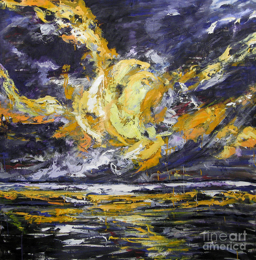 Sun And Sky Painting  - Sun And Sky Fine Art Print