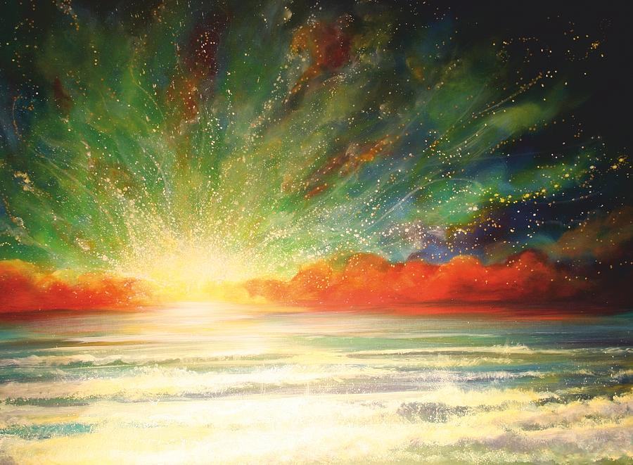 Sun Bliss Painting  - Sun Bliss Fine Art Print