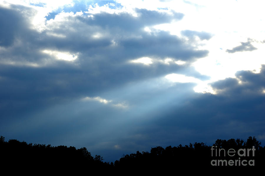Sun Breaks Through Stormy Sky Photograph  - Sun Breaks Through Stormy Sky Fine Art Print