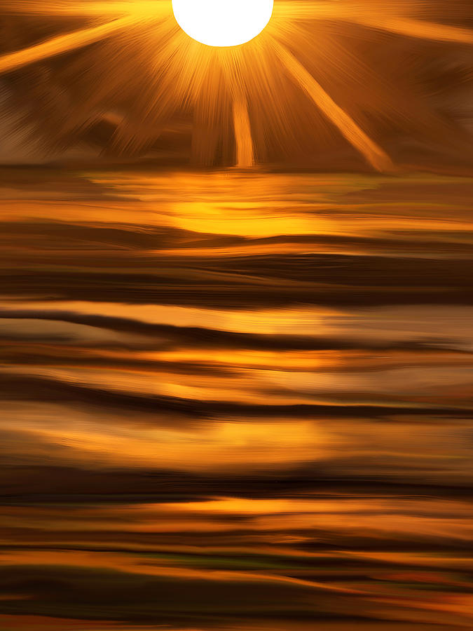 Sun Burst Digital Art  - Sun Burst Fine Art Print