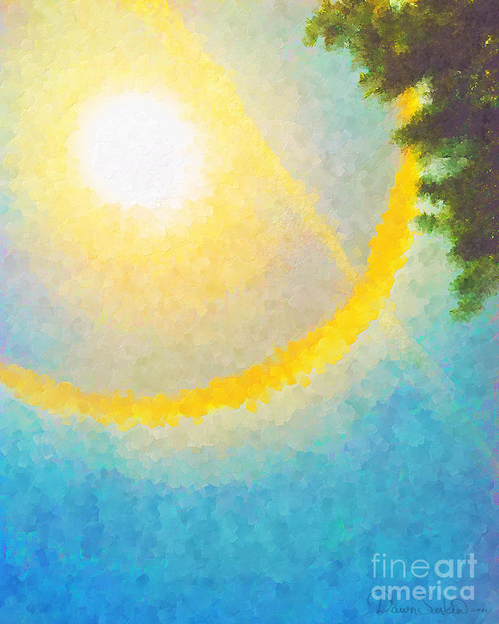 Sun Halo 03 Mixed Media 