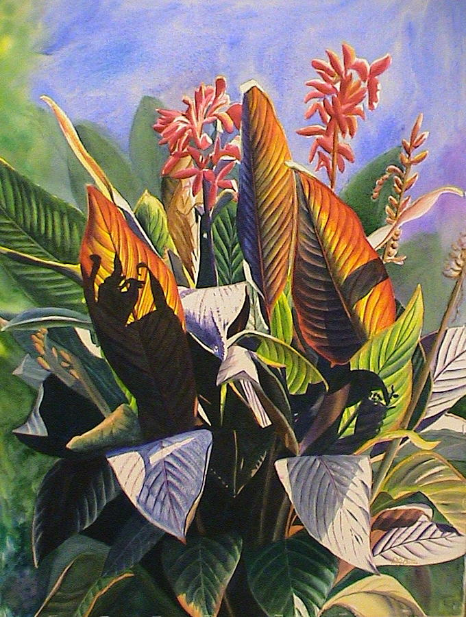 Sun Kissed Cannas Painting  - Sun Kissed Cannas Fine Art Print