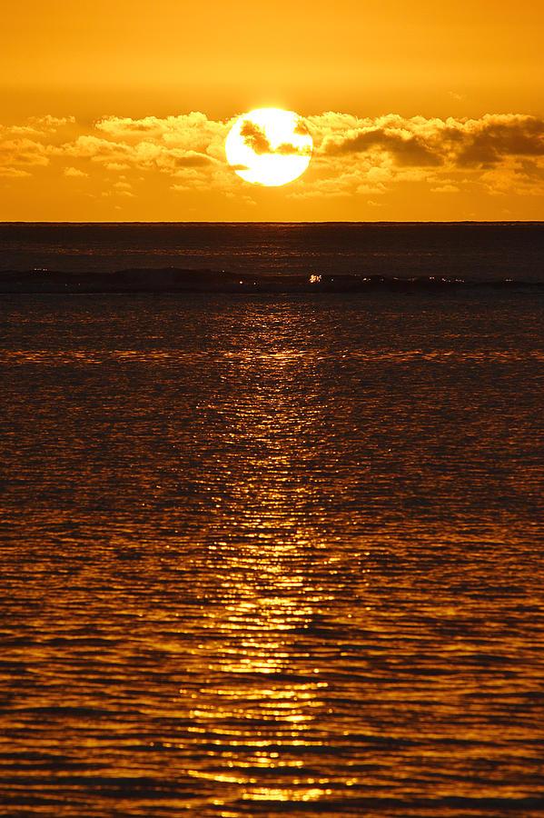 Mauritius Photograph - Sun Over Horizon by Steeve Dubois