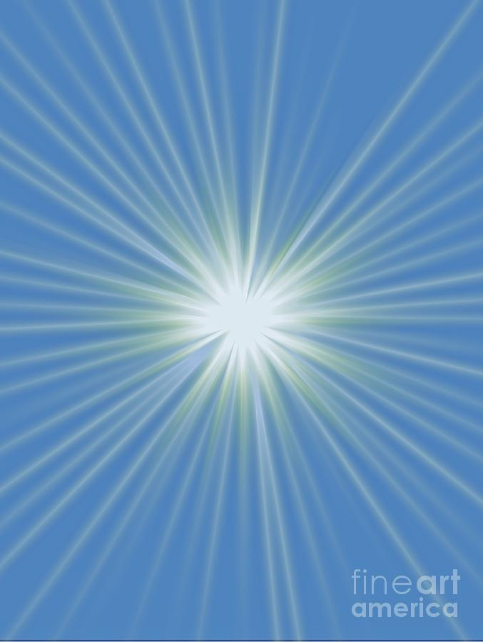 Sun Shower Digital Art