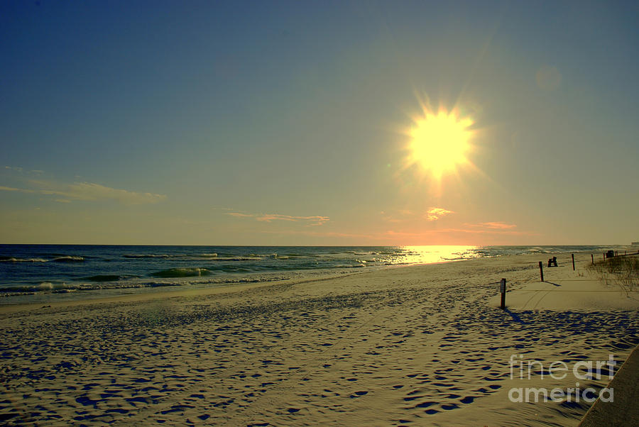 Sunburst At Henderson Beach Florida Photograph  - Sunburst At Henderson Beach Florida Fine Art Print