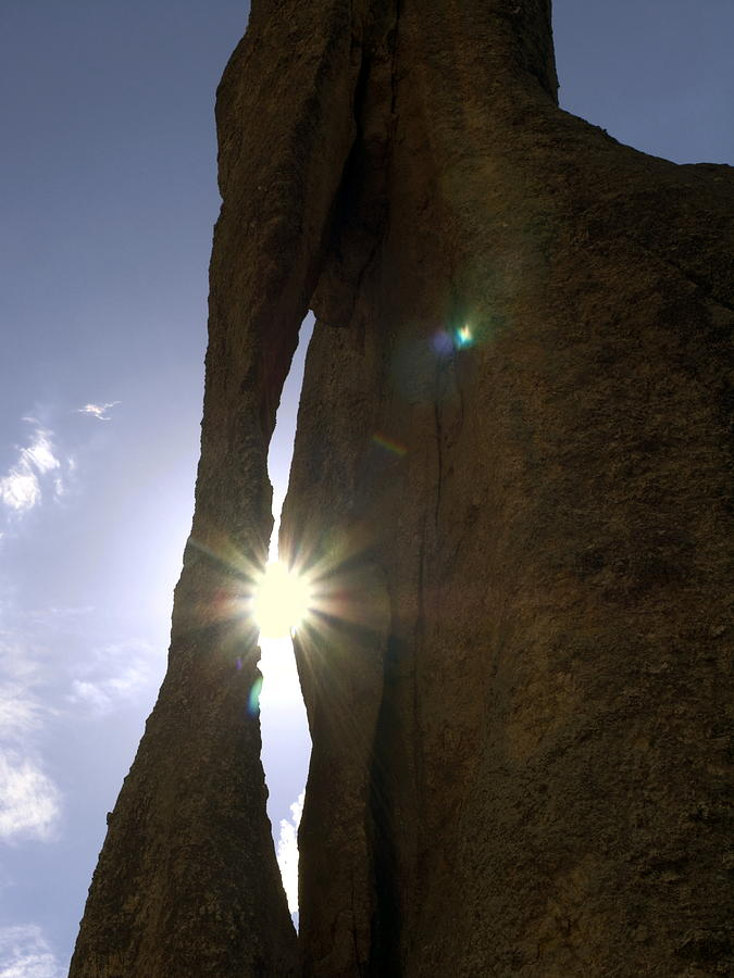 Sunburst Through Granite Photograph