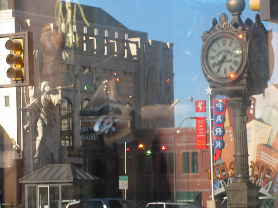 Reflection In Window Photograph - Sundance Square Reflection  by Shawn Hughes