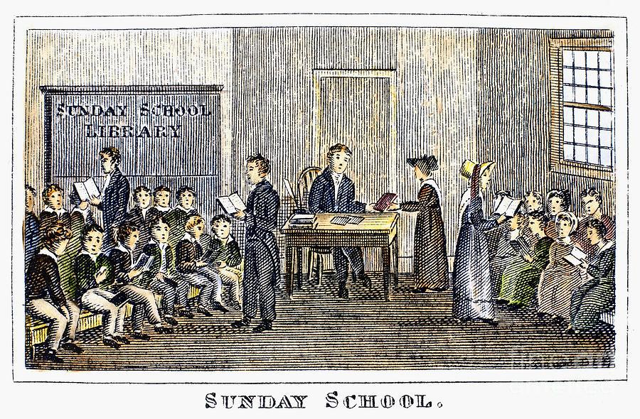 Sunday School, 1832 Photograph