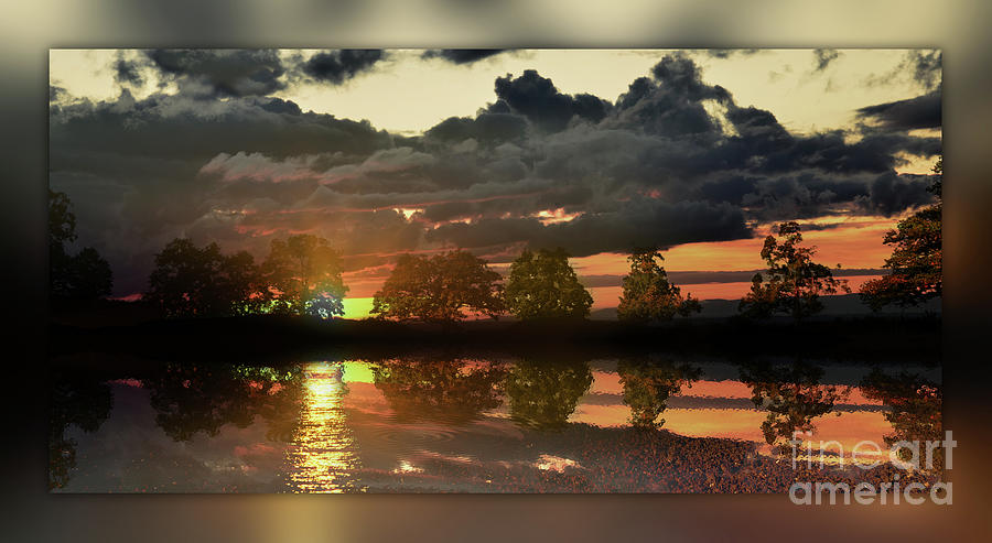 Sundown In The Lake Photograph  - Sundown In The Lake Fine Art Print