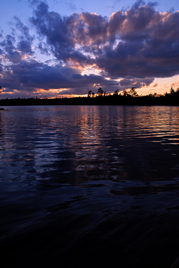 Sunet On Spoon Lake Photograph