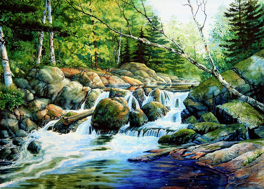 Sunfish Creek Painting  - Sunfish Creek Fine Art Print