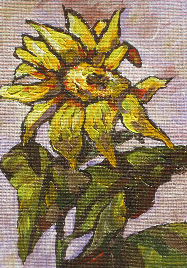 Sunflower 5 Painting  - Sunflower 5 Fine Art Print