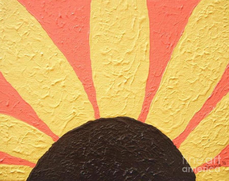 Sunflower Burst Painting