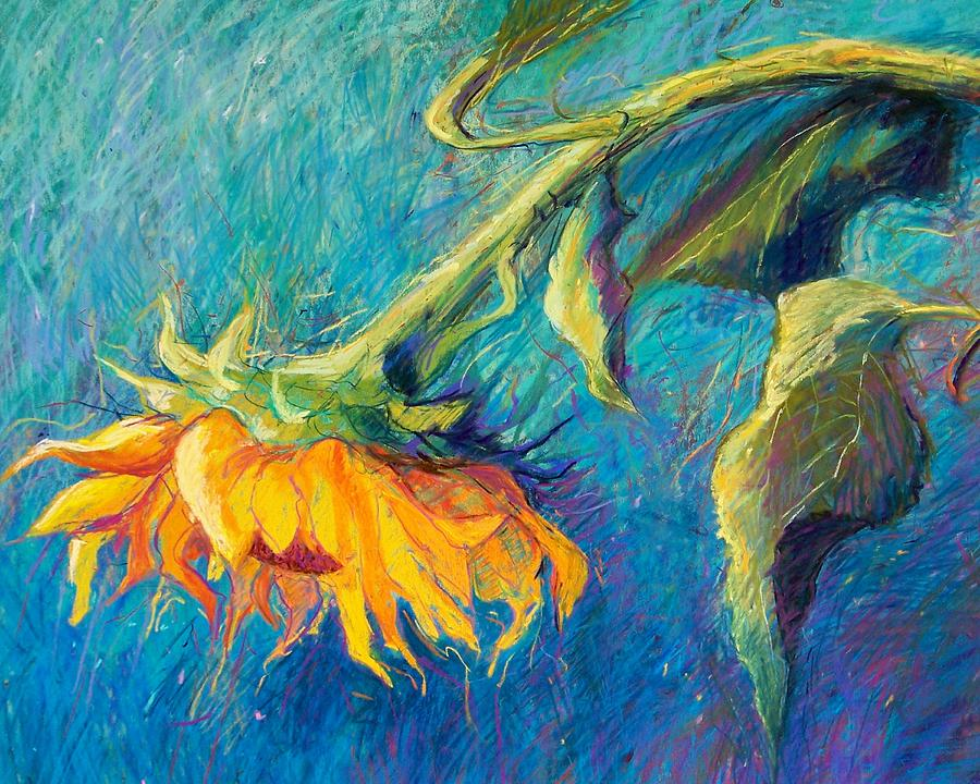 Sunflower Pastel  - Sunflower Fine Art Print
