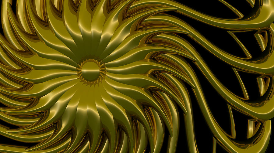 Sunflower Digital Art  - Sunflower Fine Art Print