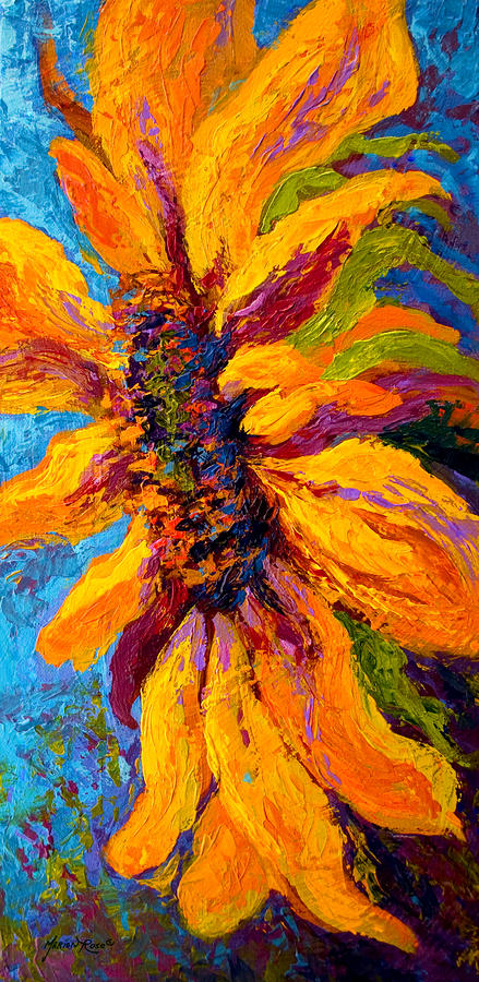 Sunflower Solo II Painting  - Sunflower Solo II Fine Art Print