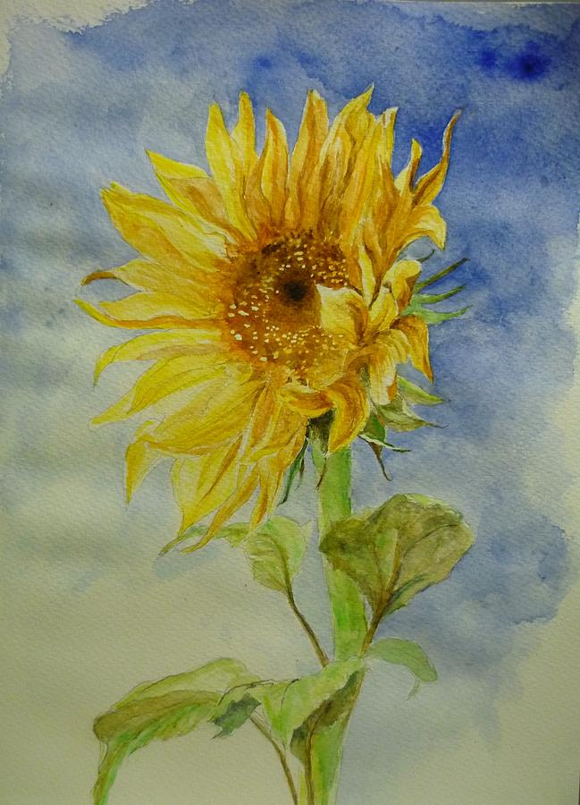 Sunflower Tribute To Van Gogh by Lizzy Forrester