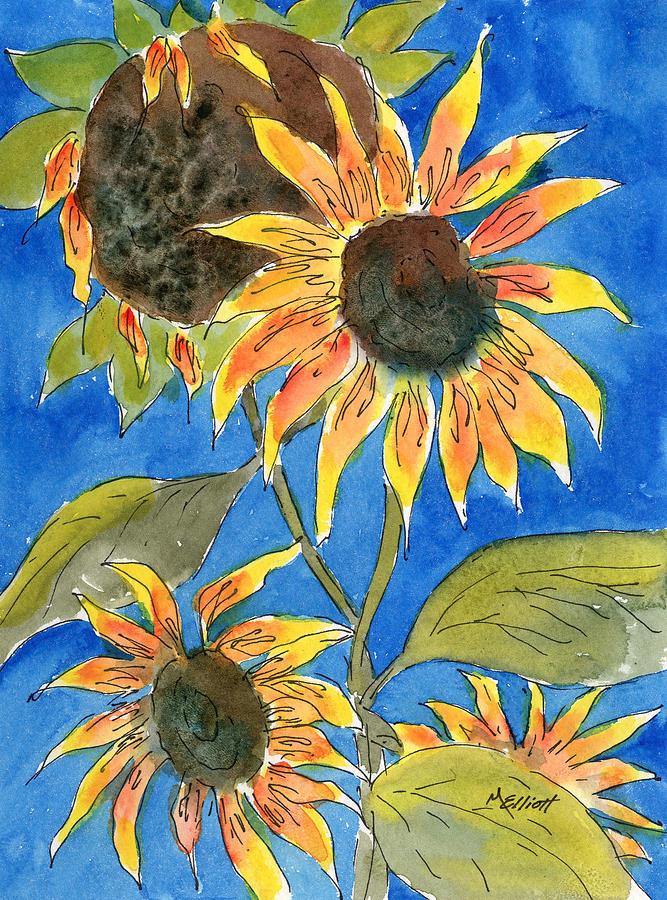 Sunflowers Painting - Sunflowers by Marsha Elliott