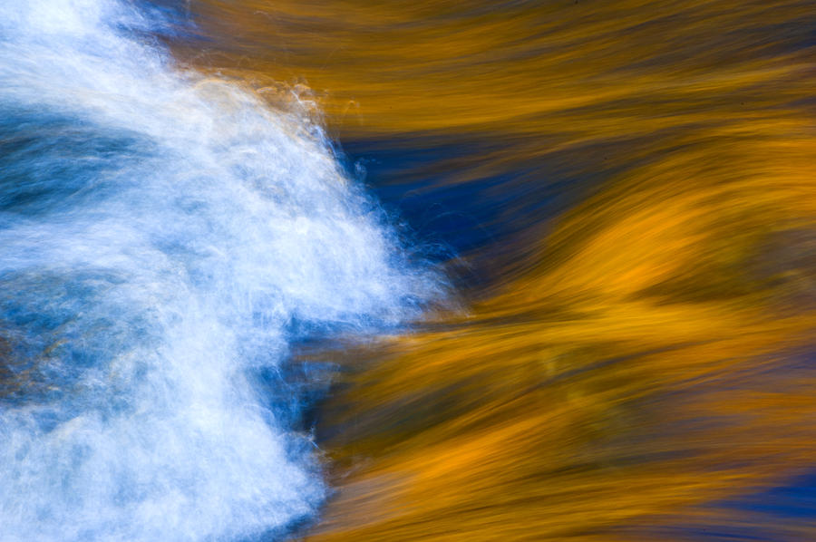 Sunlight On Flowing River Photograph  - Sunlight On Flowing River Fine Art Print
