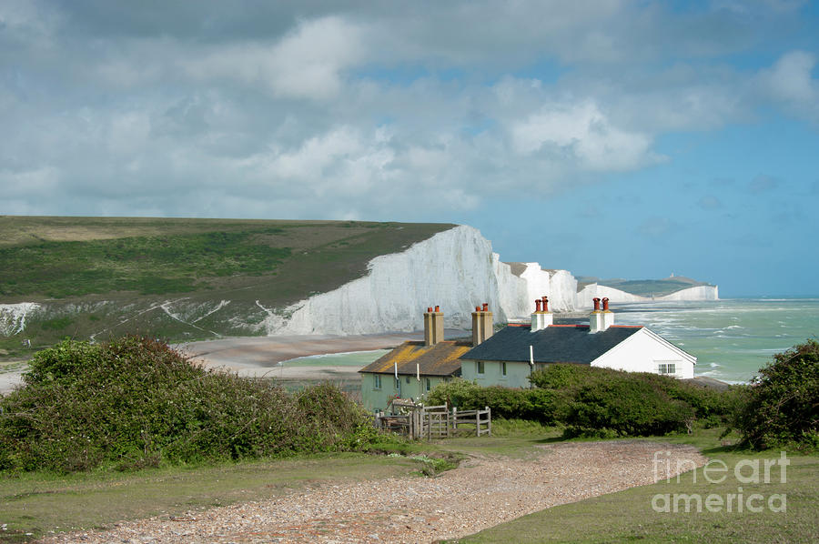Sunlight On The Seven Sisters Photograph