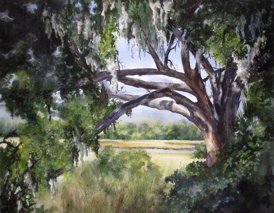 Sunlit Marsh Painting