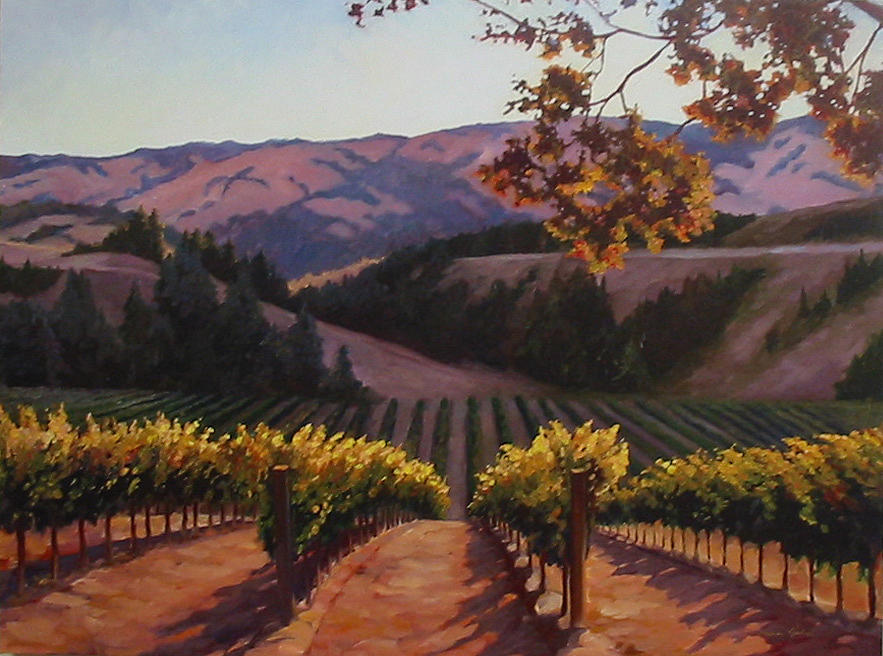 Sunlit Vines Painting