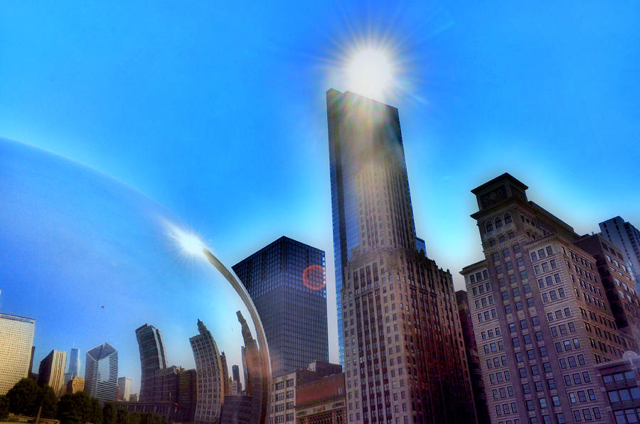 Chicago Photograph - Sunny Bean by Emily Stauring