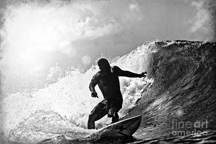 Sunny Garcia In Black And White Photograph  - Sunny Garcia In Black And White Fine Art Print