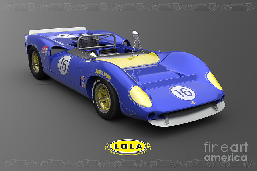 Lola Digital Art - Sunoco Special by Pete Chadwell