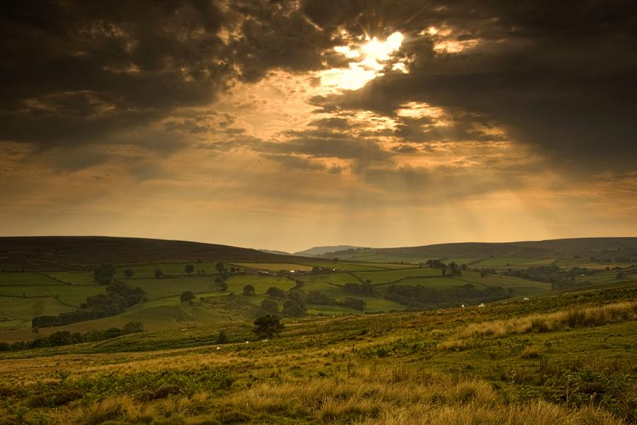 Sunrays Through Clouds, North Photograph