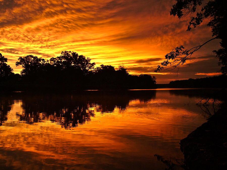 Sunrise After A Rainy Night Photograph