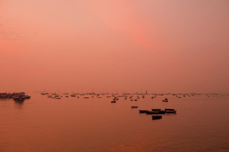 Sunrise At Arabian Sea Photograph  - Sunrise At Arabian Sea Fine Art Print