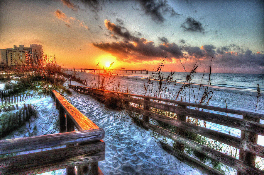 Sunrise At Cotton Bayou  Digital Art  - Sunrise At Cotton Bayou  Fine Art Print